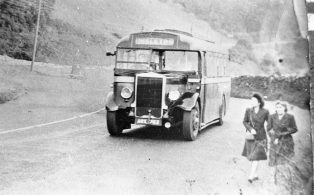 Bus at Buckhaw Brow