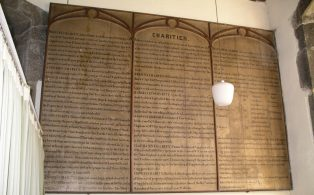 Charities Board in Giggleswick Church (St Alkelda's)
