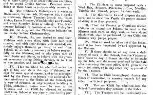 Girls School Rules 1836