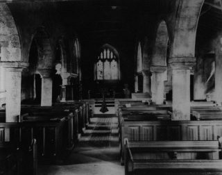Photograph of the inside of St Oswalds Church showing the alterations that took place in 1870.