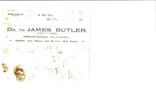 Settle Businesses Butler 1913