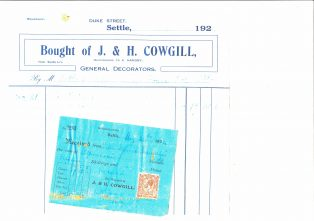 Settle Businesses Cowgill 1924