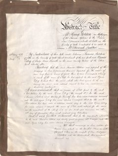 1879 Indenture for Crown In, Settle