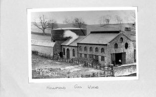 Undated photograph of Hellifield Gas Works