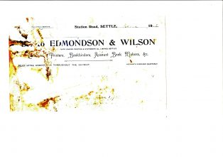 Settle Businesses Edmondson and Wilson 1920