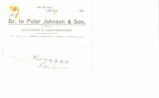 Settle Businesses Johnson 1921