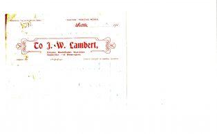 Settle Businesses Lambert 1919