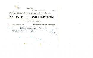 Settle Businesses Millington 1924