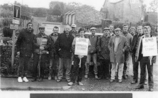 Horton Quarry Picket Line
