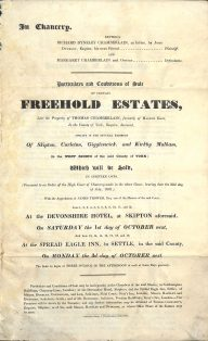 Particulars and conditions of sale of estate including Kirkby Malham dated 1 October 1831