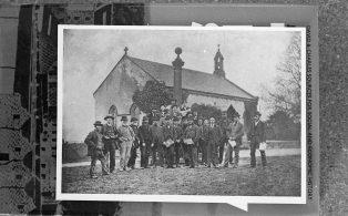 Male Group Outside Austwick Chapel