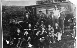 Craven Potholers With Pennine Motor Co Bus