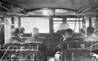Interior of Pennine Motor Co Bus