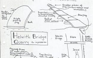 Clapper Bridges and Helwith Bridge Quarry