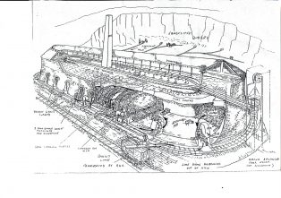 The Hoffmann Kiln Drawing