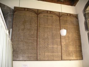 Charities Board in Giggleswick Church (St Alkelda's)