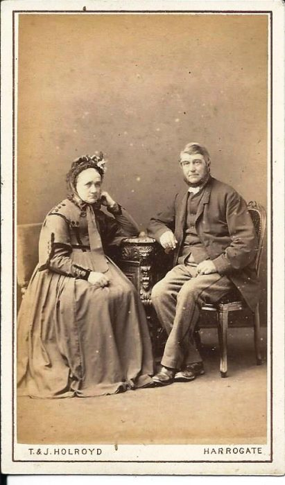 Photograph of John and Jane Rawlinson of Bell Busk