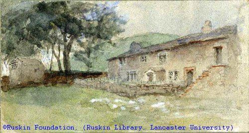 Watercolour Illustration Dated 1875 of Ruskin Middle House