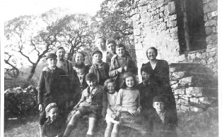 Miss Davis and Evacuees at High Birkwith