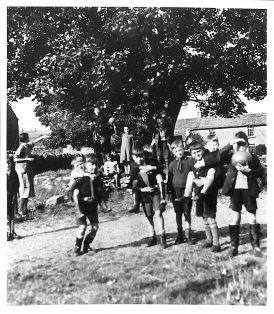 Mrs Lowther and Wartime Children at Selside School
