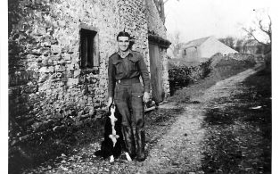 Photograph dated 1946/1947 of un-named Italian POW at Lodge Hall Farm