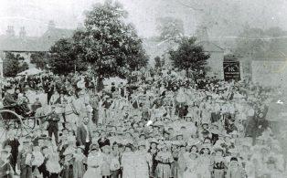Market Place Gathering circa 1896