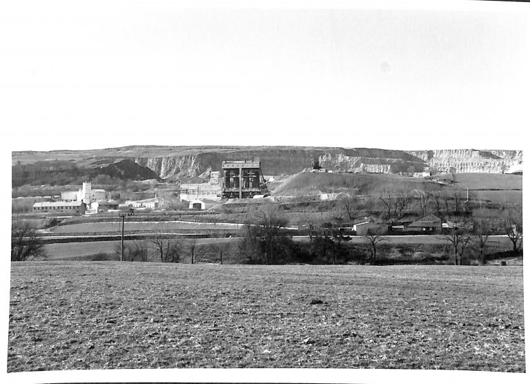 Photograph of Lime Kilns and Processing Plant at Horton Quarry