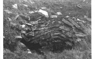 Photograph of Bell Pit (coal) on Fountains Fell