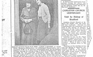 Photocopy of Newspaper Article About Mrs James Lambert at Arcow Farm