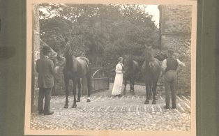 Photograph of Dorothy Hammond with Horses