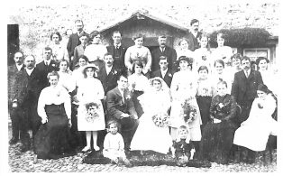 Photograph of Marriage of Sarah Betham to Ernest Sarginson
