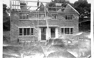 Photograph dated 31 July 1953 of Construction of Council House on Cragghill Road
