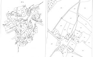 Abstract from Tithe Map showing centres of Stainforth & Knight Stainforth