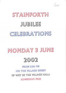 Stainforth Jubilee Celebrations