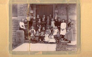 Long Preston School pupils 1898