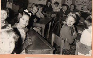 Long Preston Endowed School Children at work.