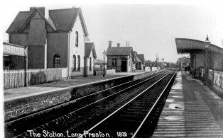 Long Preston Station Buildings c 1908