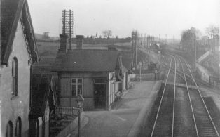 Long Preston Station c 1930 and Cattle Dock sidings