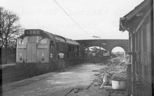 Long Preston Midland Station demolished 1972