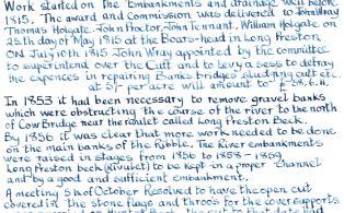 Long Preston Ings Drainage and Embankment Scheme